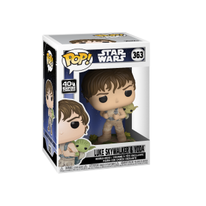 Funko POP! Star Wars - Training Luke with Yoda Vinyl Figura 10cm