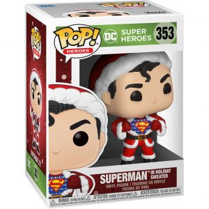 Funko POP! Heroes: DC Holiday - Superman  Sweater Vinyl Figura 10cm