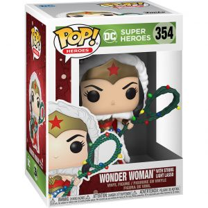 Funko POP! Heroes: DC Holiday - Wonder Woman  Lights Lasso Vinyl Figura 10cm