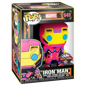 Funko POP! Marvel Black Light Iron Man Exclusive Vinyl Figura 10cm