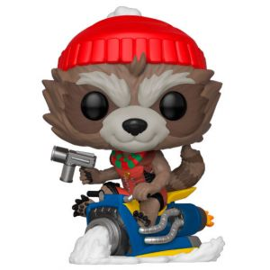 Funko POP! Marvel Holiday - Rocket Vinyl Figura 10cm