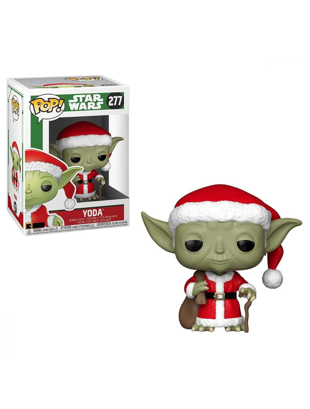 Funko POP! Star Wars: Holiday Santa Yoda Vinyl Figura 10cm