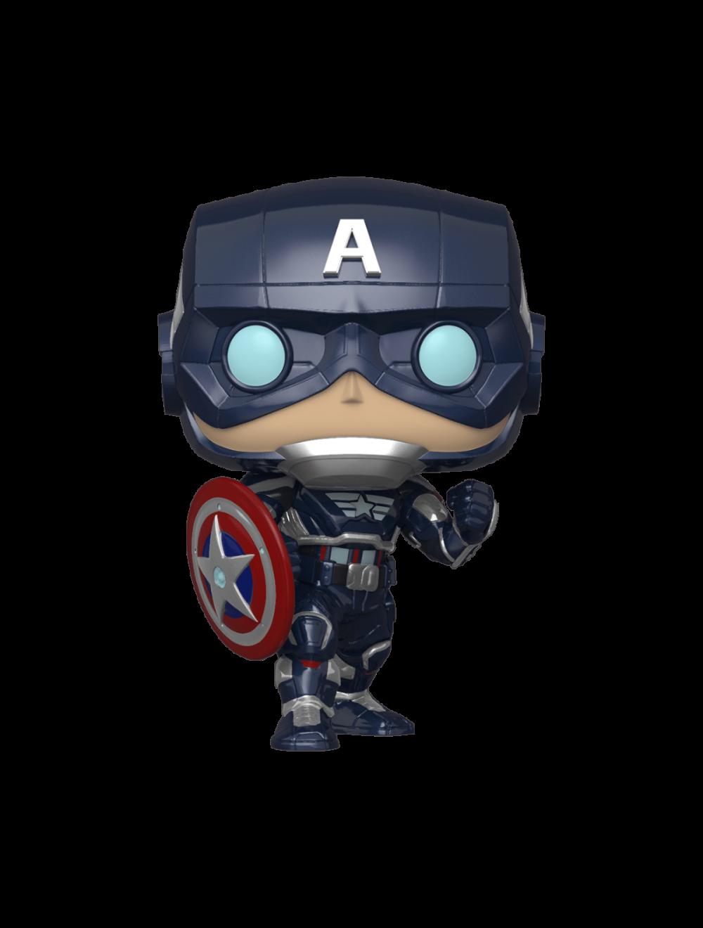 Funko POP! Avengers Game - Captain America  Stark Tech Suit (Amerika Kapitány Stark Tech ruhában) Vinyl Figura 10cm