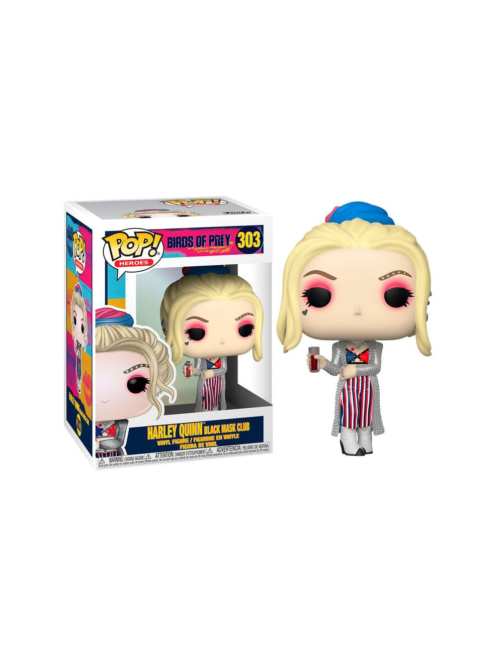 Funko POP! Birds of Prey - Harley Quinn (Black Mask Club) Vinyl Figura 10cm