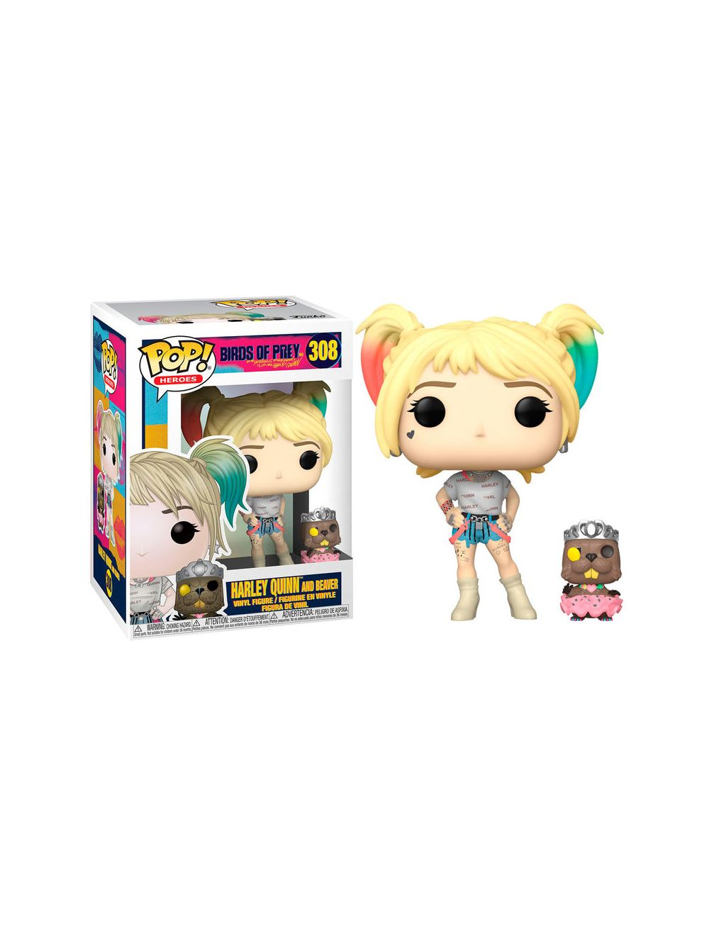 Funko POP! DC Birds of Prey Harley Quinn with Beaver Vinyl Figura 10cm