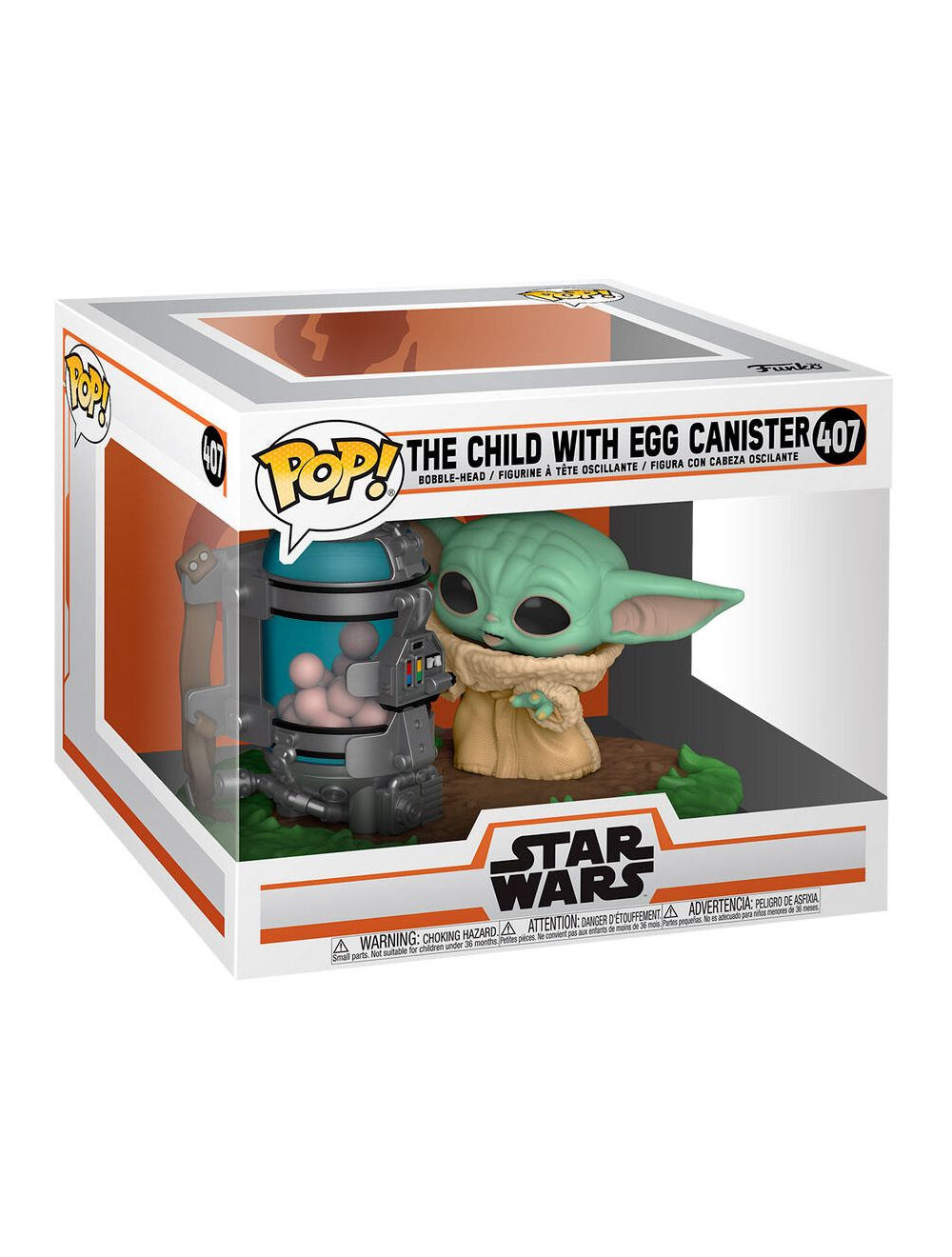 Funko POP! Deluxe The Mandalorian - Child with Egg Canister Vinyl Figura