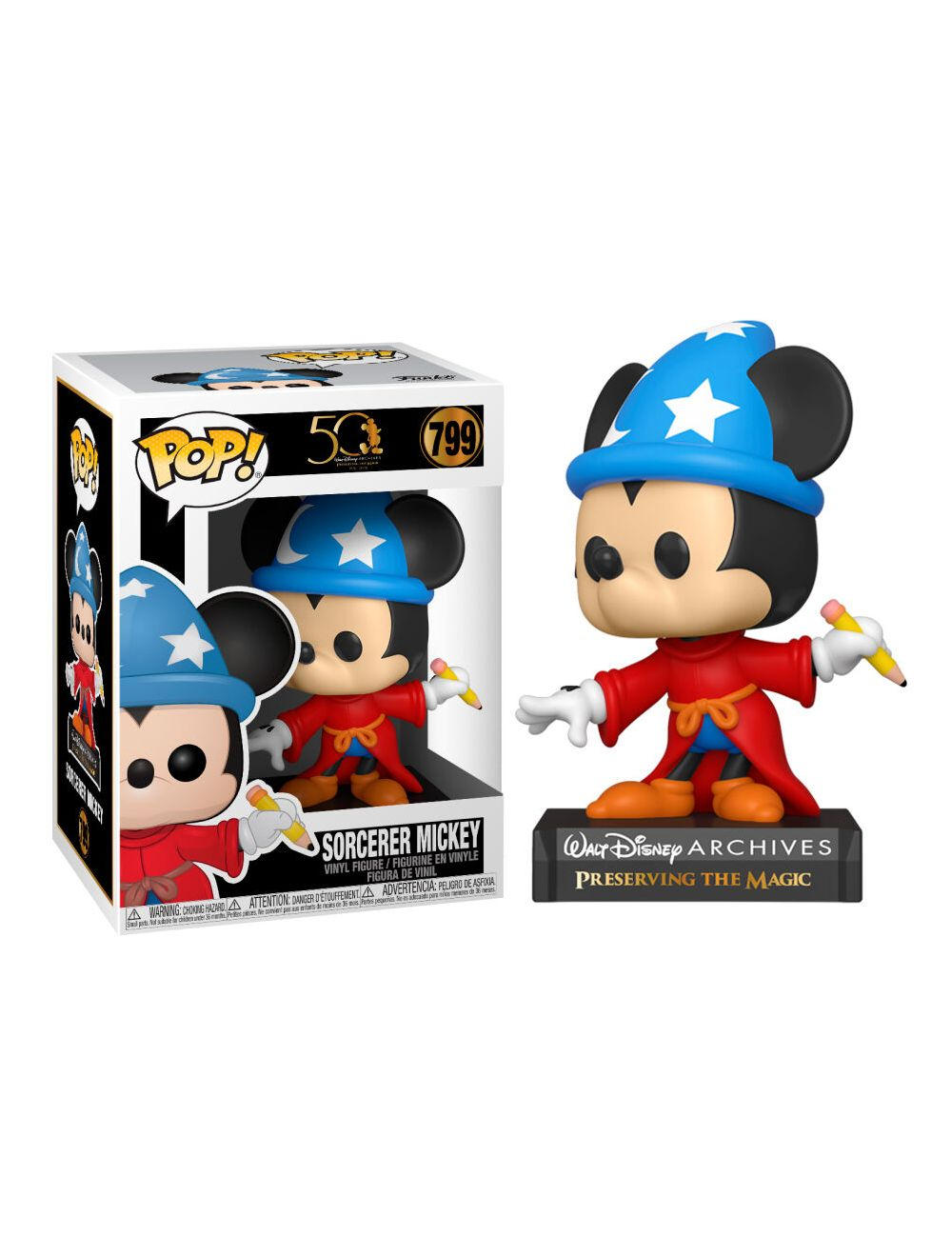 Funko POP! Disney Archives - Sorcerer Mickey Vinyl Figura 10cm