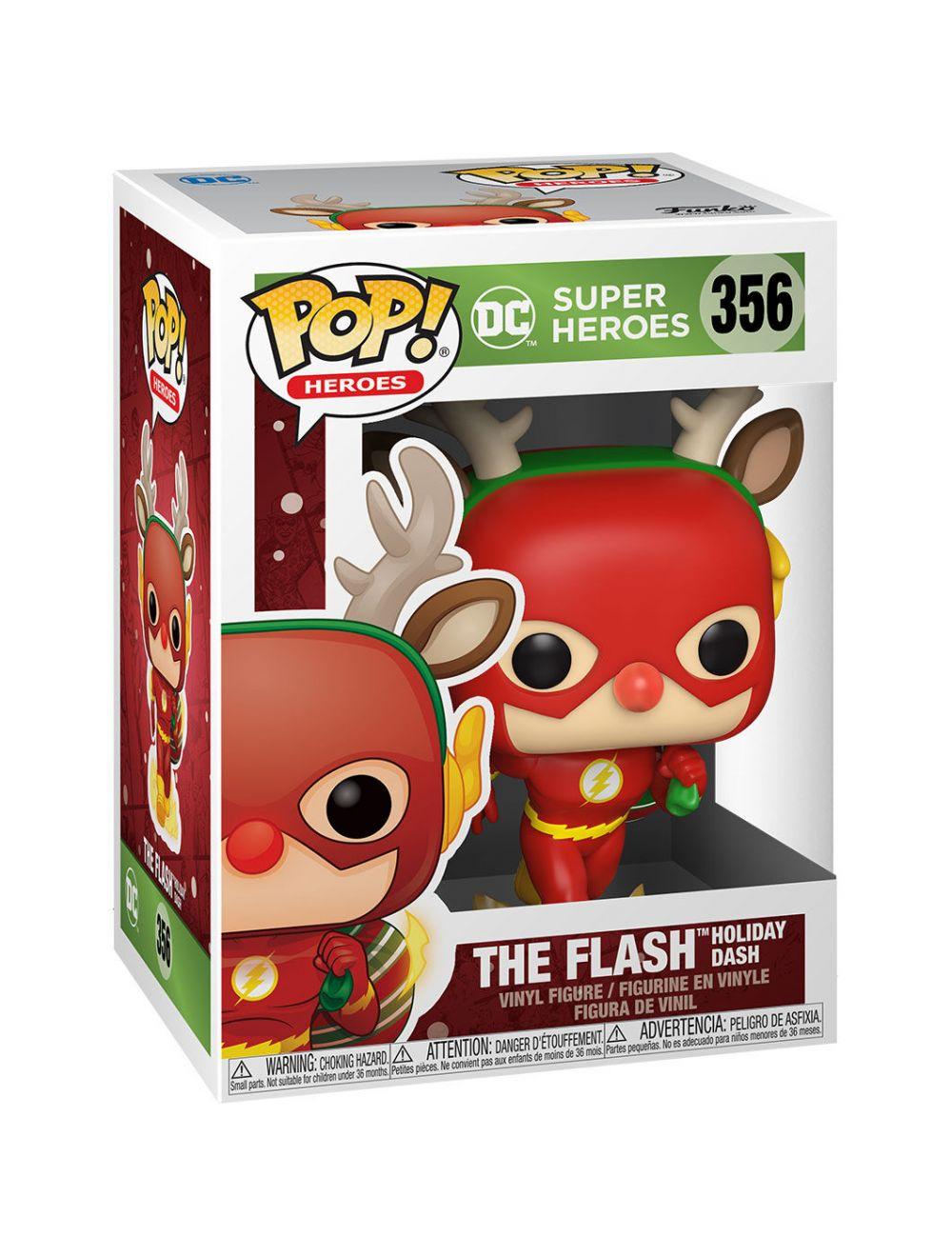 Funko POP! Heroes: DC Holiday - Rudolph Flash Vinyl Figura 10cm