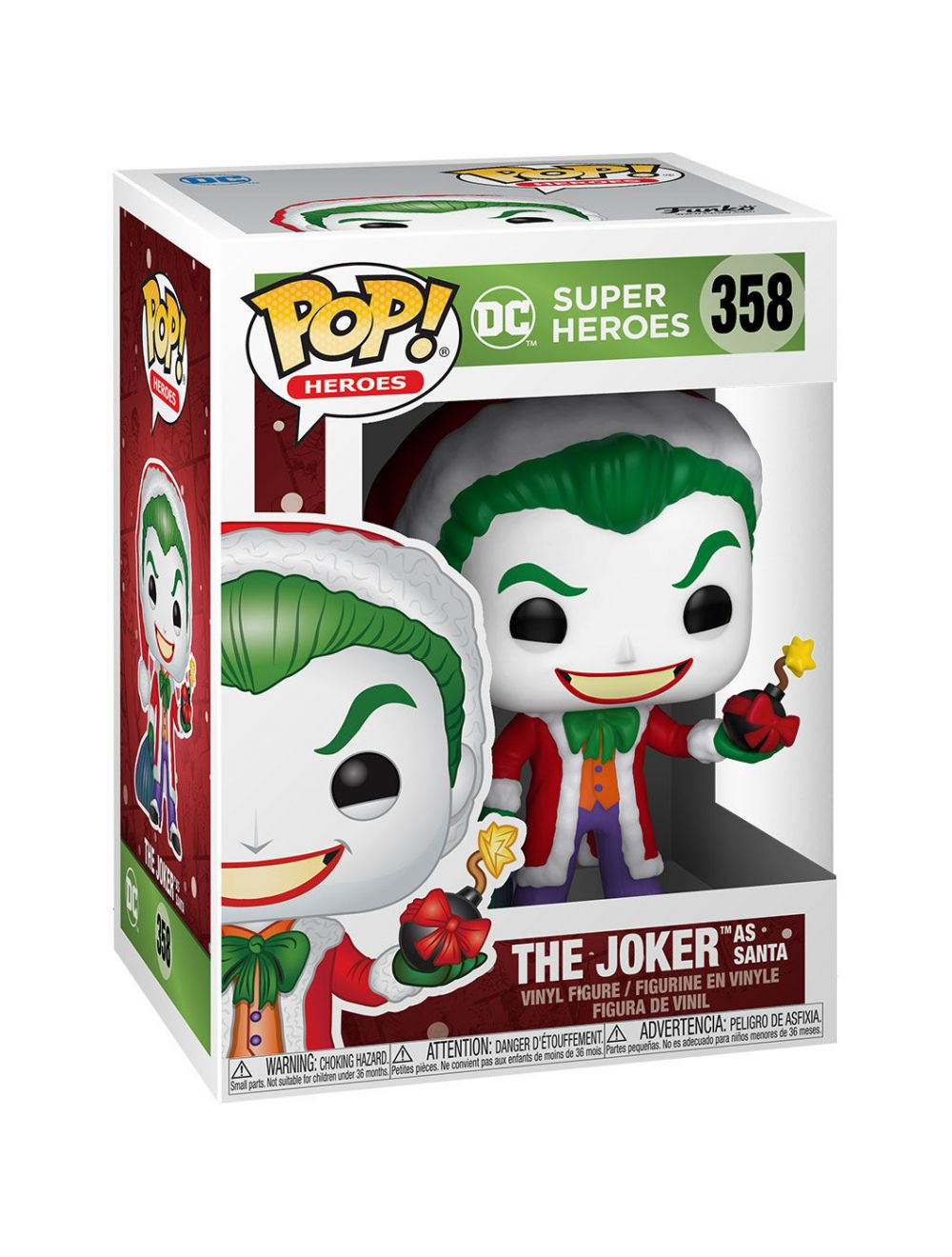 Funko POP! Heroes: DC Holiday - Santa Joker Vinyl Figura 10cm