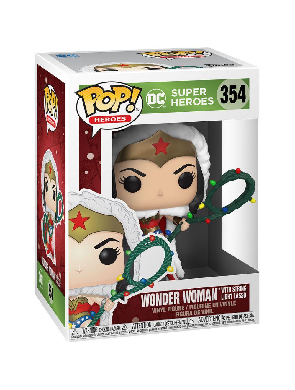 Funko POP! Heroes: DC Holiday - Wonder Woman  Lights Lasso Vinyl Figura 10cm
