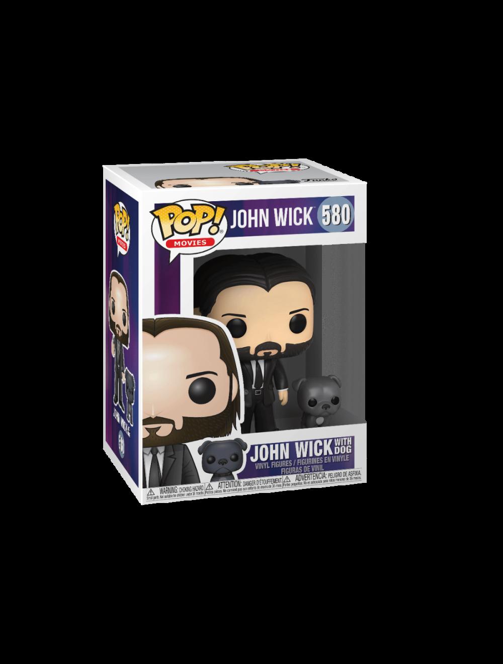 Funko POP! John Wick - John in Black Suit és Dog Vinyl Figurák 10cm