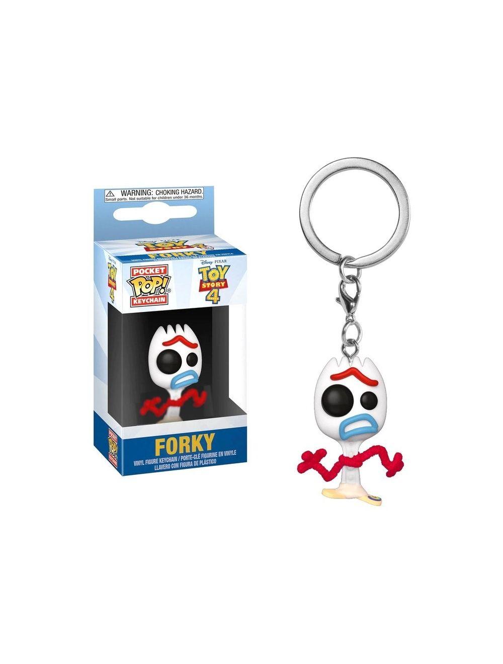 Funko POP! Kulcstartó - Toy Story 4 - Forky Vinyl Figura