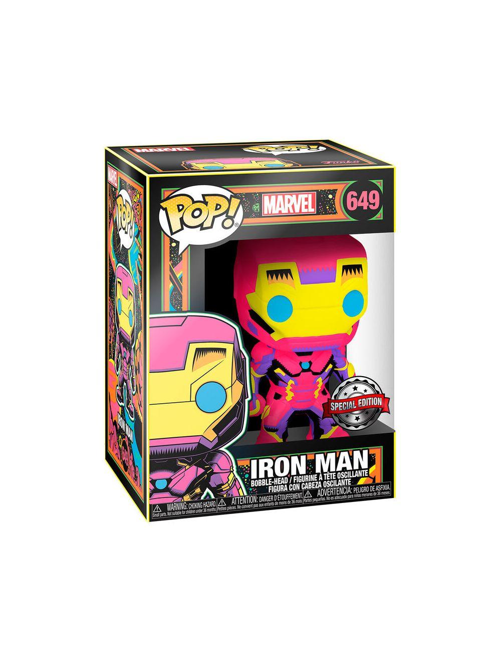Funko POP! Marvel Black Light Iron Man Exclusive Vinyl Figura 10cm