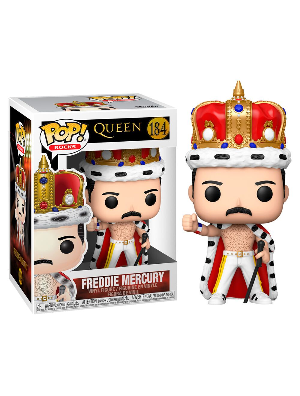 Funko POP! Queen - Freddie Mercury King Vinyl figura 10cm