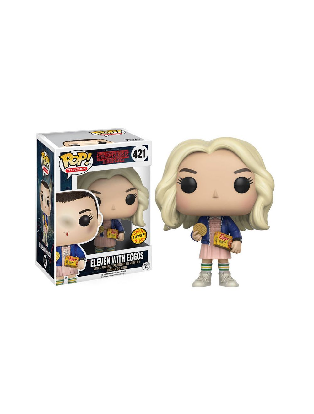 Funko POP! Stranger Things Eleven with Eggos Chase Vinyl Figura 10cm
