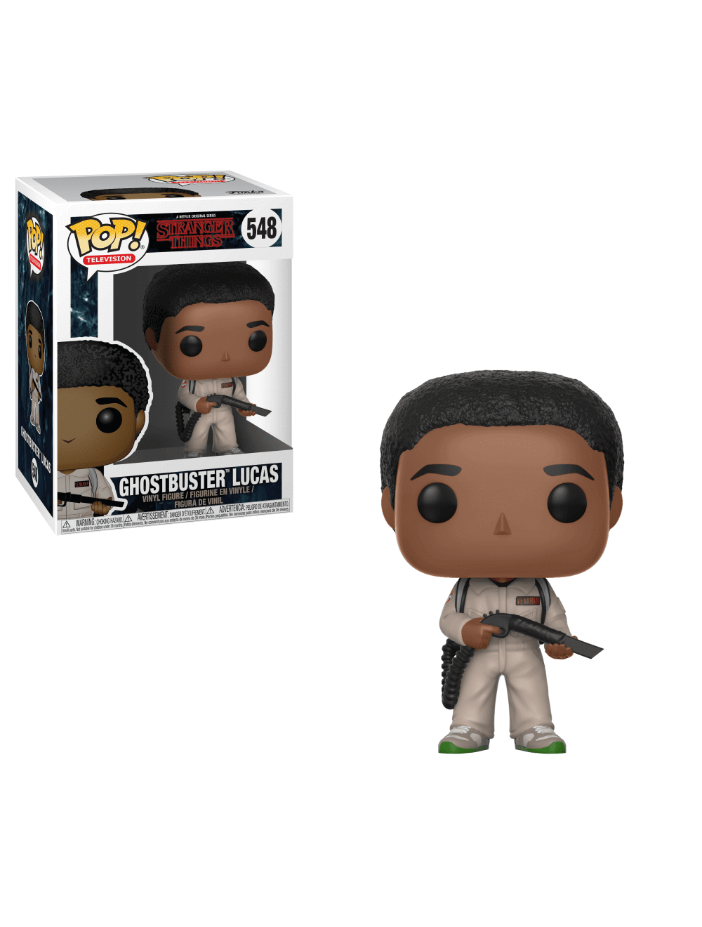 Funko POP! Stranger Things - Ghostbuster Lucas Vinyl Figura 10cm