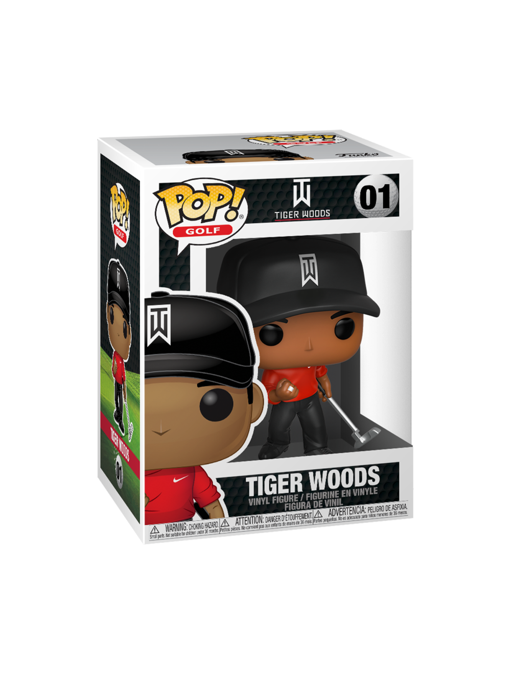 Funko POP! Tiger Woods (Red Shirt) Vinyl Figura 10cm